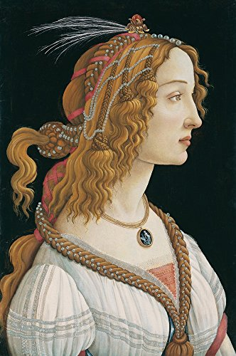 Berkin Arts Sandro Botticelli Giclee Canvas Print Paintings Poster Reproduction(Idealized Portrait of a Lady)