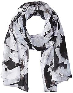 Calvin Klein Women's Shadow Stripe Floral Scarf