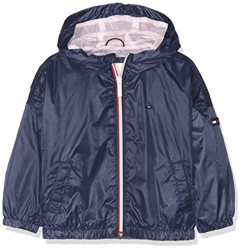 Tommy Hilfiger Baby-Mädchen Essential Light Weight Jacket Jacke, Blau (Black Iris 002), (Herstellergröße: 92)