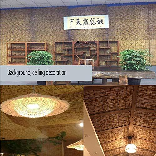 XZRR Persiana De Bambú-70% Persianas Enrollables,Persianas De Caña,Sombras De Bambú,Cortina De Madera Filtrado De Luz,para Decoración De Paredes/Techo,como Una Pantalla De Privacidad