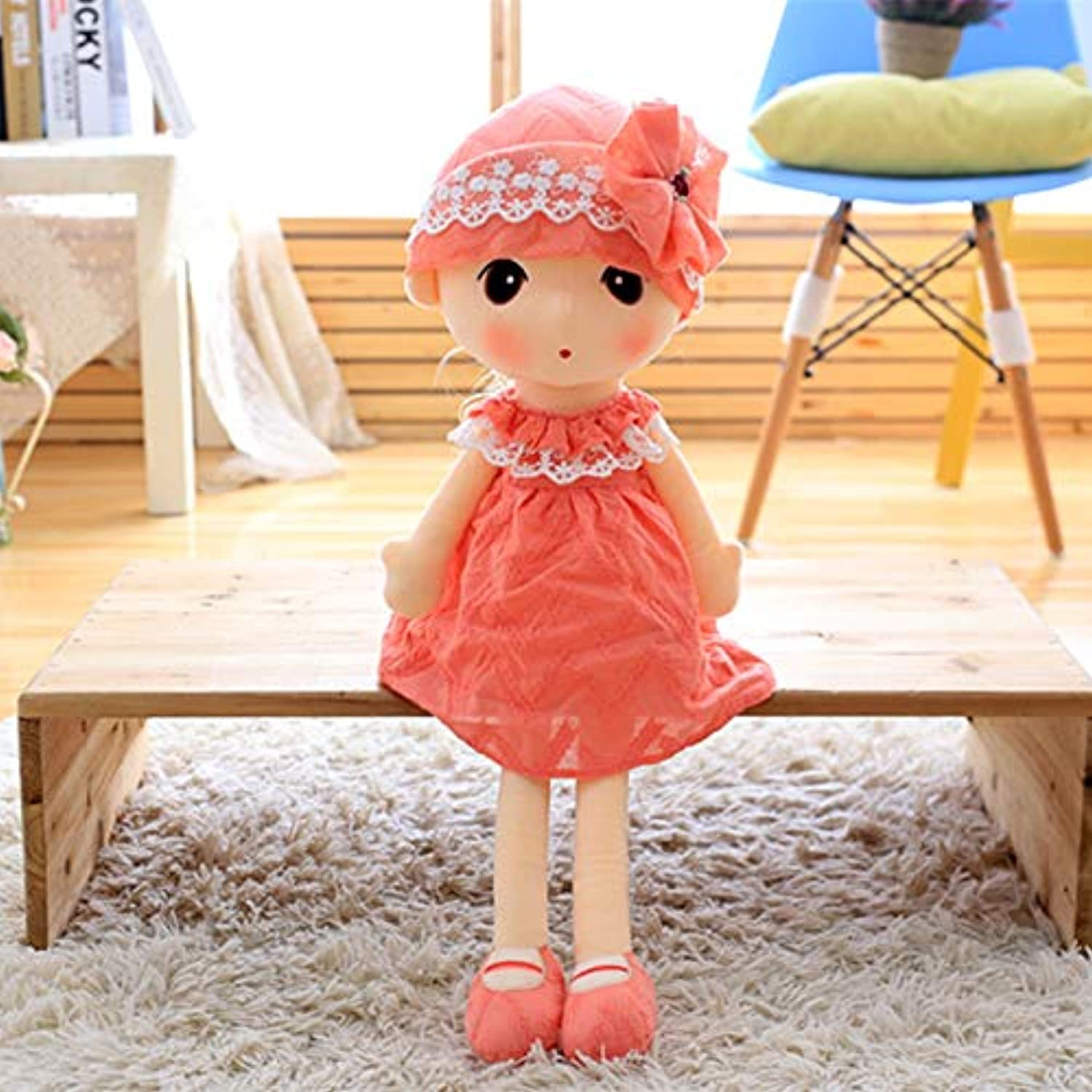 DONGER Toy Cute Doll Birthday Gift Doll Girl Princess Hugs Sleep To Send Girlfriend, Red, 90 Cm
