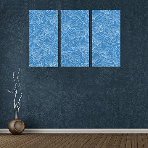 3 Panel Wandfarbe für die Küche Schöne Blaue Koralle im Meer Büro Kunst Wanddekoration Frauen Leinwand Wandkunst Wandkunst für Wohnkultur für Zuhause Wohnzimmer Schlafzimmer Badezimmer Wanddekor Post
