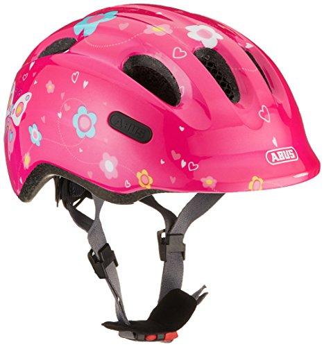 ABUS Smiley 2.0 Kinderhelm - Robuster Fahrradhelm für Mädchen und Jungs - 72566 - Pink mit Schmetterlingsmuster, Größe S