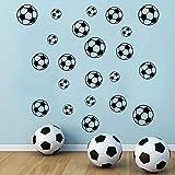 SITAKE 43 pegatinas de fútbol para pared de la habitación de los niños, pegatinas de fútbol de vinilo para la pared del dormitorio de los niños,...