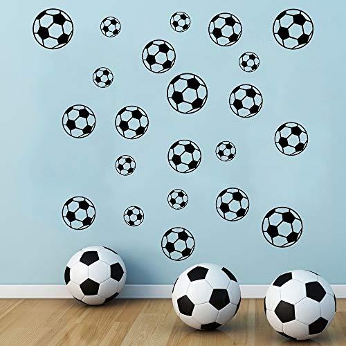 SITAKE 43 pegatinas de fútbol para pared de la habitación de los niños, pegatinas de fútbol de vinilo para la pared del dormitorio de los niños, sala de juegos, sala de estar, decoración de puerta