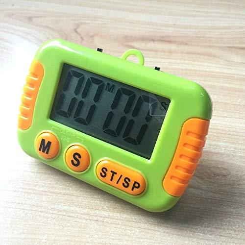 Temporizador CCI temporizador de cocina electrónica digital fuerte alarma con pantalla LCD for que cocinan la Oficina de Deportes Juegos (rosa) administrador de tiempo (Color : Green)