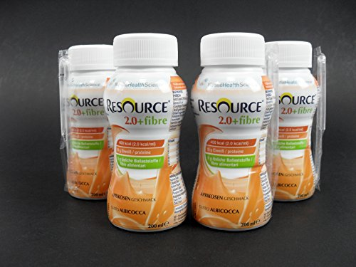 Nestle Resource 2.0+fibre Aprikose 4 x 200 ml PZN 01743884