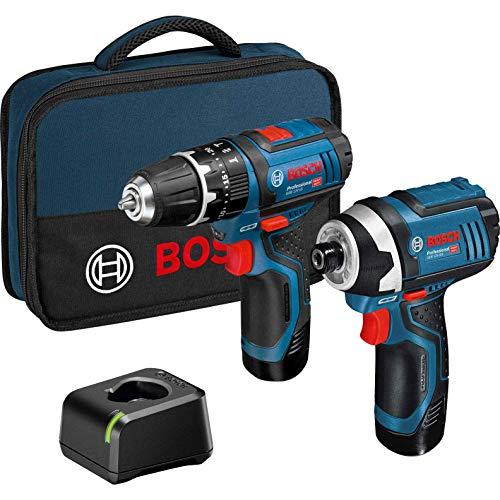 Bosch 06019A6979 12v Twin Pack GSB Combi Hammer Drill + GDR Impact Driver...
