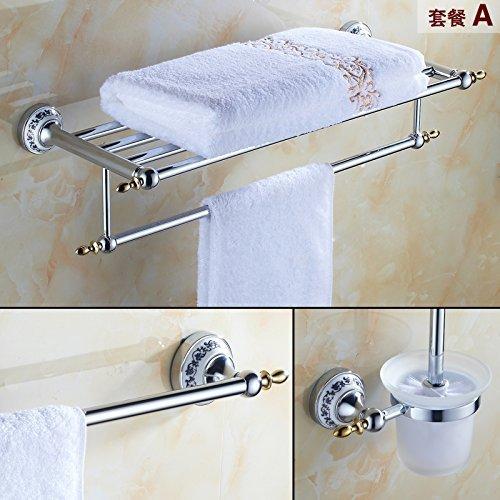 Silberner Handtuchhalter Handtuchhalter Blau gekachelte Einbau-Toilettenbürste zum Papierhandtuchhalter-Kit, Pack A