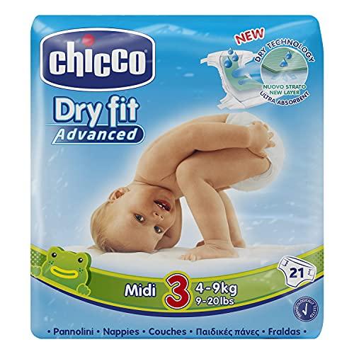 Chicco Dry Fit Advance Pannolino Midi, 21 Pezzi