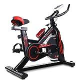 SAFGH Bicicleta giratoria Bicicleta de Ejercicio Ultra silenciosa Bicicleta de Interior Deportes en casa Equipo de Fitness Bicicleta de Ejercicio práctica (Color: Negro, Tamaño: 105x50x92cm)