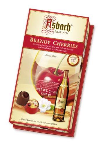 RCP Asbach Kirsch-Pralinen, Zartbitter-Schokolade, Alkoholhaltig, Tolles Geschenk, 200 g
