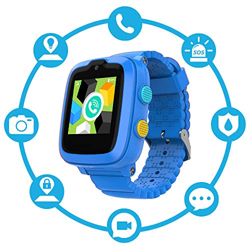 New 4G Edition - Kids Smart Watch for Boys Girls (Blue) - Touch-Screen Smartwatch with SIM Card – Remote Monitoring/Video Call/GPS Tracker - Ready Out of The Box