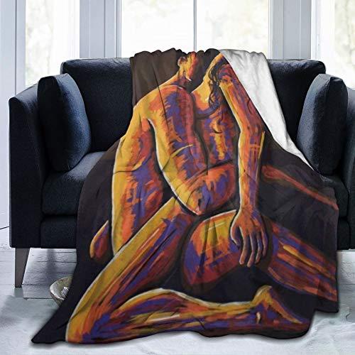 XINGAKA Flanell Fleece Soft Throw Decke,Erotische sinnliche Liebhaber Paar nackt,für Sofas Sofa Stühle Couch Leicht,warm und gemütlich 204x153cm