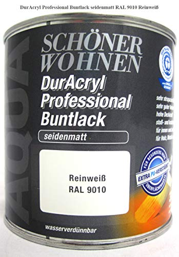 DurAcryl Buntlack Reinweiß Professional 375 ml Seidenmatt Schöner Wohnen
