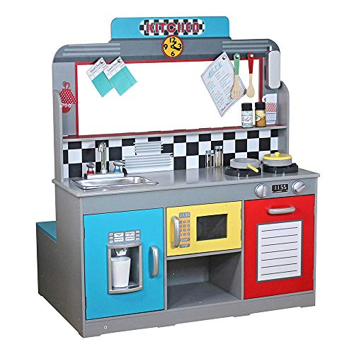 WOOMAX - Cocinita madera Bar Retro ColorBaby 85287