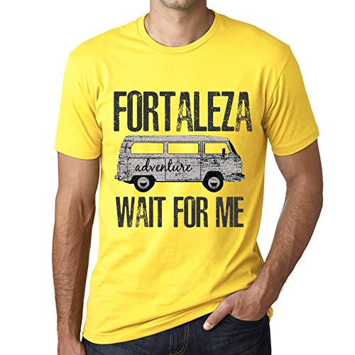 One in the City Hombre Camiseta Vintage T-Shirt Gráfico Fortaleza Wait For Me Amarillo