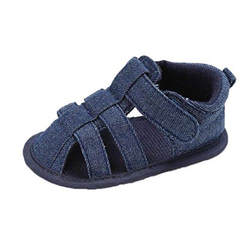 Zapatos Bebe Niño Verano Fossen Lona Sandalias Velcro