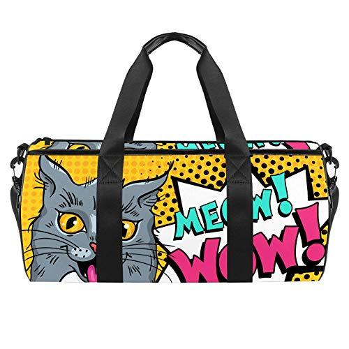 Meow Wow - Bolsa de viaje para gimnasio, deportes, danza, viajes, fin de semana