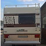 klebenswichtig Die Welt ist ein Buch und die die nicht Reise lesen nur eine Seite B XL aprox. 40 cm Pegatina para camping, autocaravana, Womi Caravan
