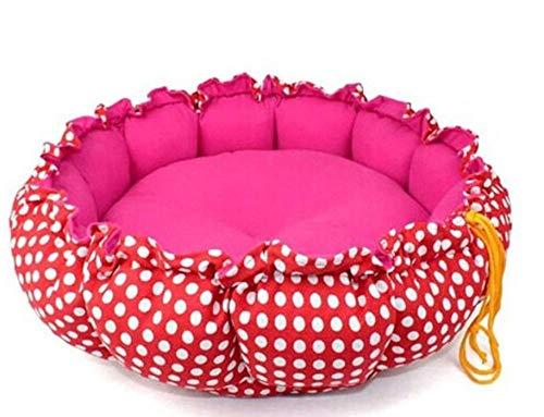 Pet Nest Kennelpet Bed Warm en comfortabel katoenen rond bedrukt hondenhok, klein en middelgroot groot honden- en kattenslaapbed