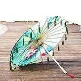 シルク傘雨の女性ダンスプロップチャイナ油紙傘日傘グアルダchuva paraguas MUJER漢服タッセル傘 (Color : U)