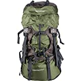 55L internal frame backpack for hiking and camping