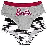 Barbie Lot de 2 slips en coton pour femme - Multicolore - XL