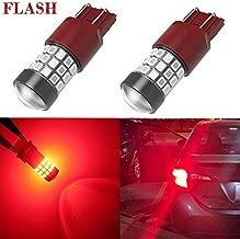Alla Lighting Upgraded Version 7440 7443 LED Strobe Brake Lights Bulbs, Pure Red Flashing W21W T20 Wedge 7440LL 7443LL 7443-SRCK, 7443-CK 7440ST W21W 12V Stop Lights 2835 SMD for Cars, Trucks