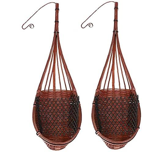 sevenjuly Hangende mand van bamboe, rotan voor binnen en buiten, 2 stuks, creatieve decoratie