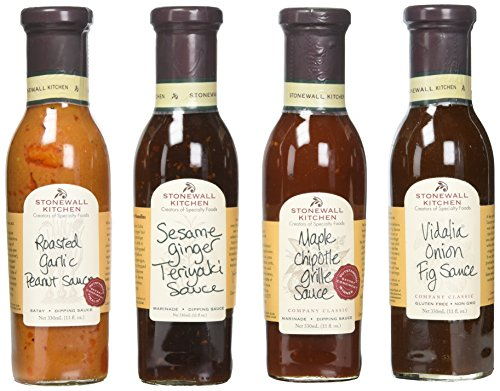Stonewall Kitchen Father's Day 4 Piece Classic Grille Sauce Collection