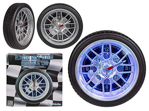 mucplants Wanduhr Reifen mit 16 LED Durchmesser ca. 35cm