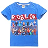Kids Boys Roblox Fútbol Juegos Family Gaming Team Tops tee (Azul 4, 11-12 años)