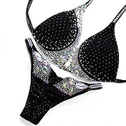 Fit Luxy Black Competition Figure Bikini Suit