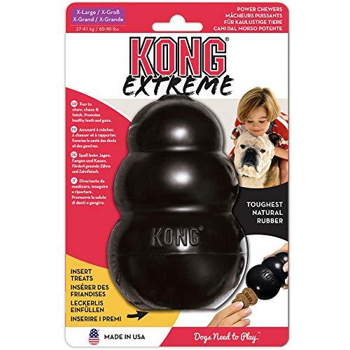 KONG - Extreme - Juguete de Robusto Caucho Natural Negro - para morder, perseguir o Buscar - para Perros Extragrandes