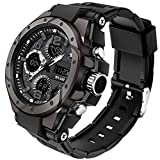Sports Mens Digital Military Watches Boys Stopwatch Waterproof Running Army Wrist Watch for Men Outdoor Survival Big Black Watch