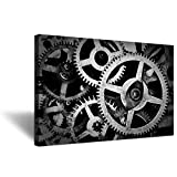 Hello Artwork Large Canvas Wall Art Mechanical Gear Cogs Old Factory Painting Engineer Team Motivation Inspiration Pictures Print for Modern Home Decor Stretched and Framed Ready to Hang 20x30inch