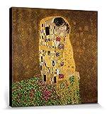 1art1 Gustav Klimt - Der Kuß II Bilder Leinwand-Bild Auf