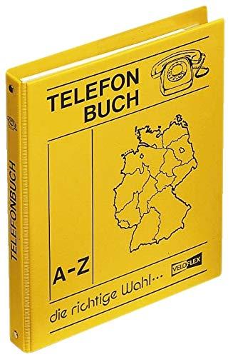 Veloflex 5158000 Rubrica Telefonica ad Anelli, Formato A5, colore: Giallo