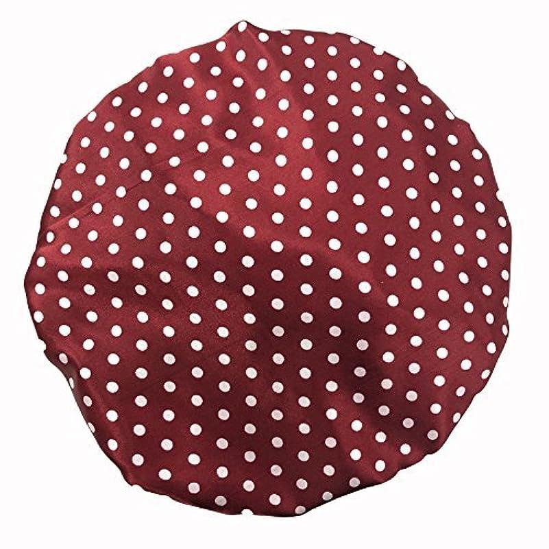 チラチラする換気する採用するMaltose 化粧帽 ダブル防水シャワーキャップ ヘアキャップ お風呂上がり バス用品 浴びる 強い防水性 2枚セット