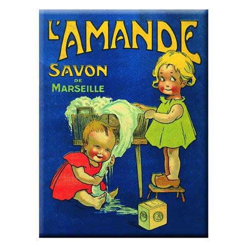 Souvenirs de France - Magnet Métal Pub Savon de Marseille
