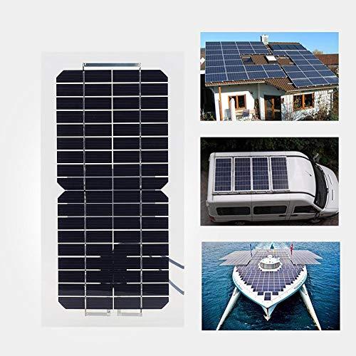 Zouminy Zonnepaneel, 18 V, 5,5 W, waterdichte polykristallijne chips, zonnepaneel, met hoge conversiesnelheid, power zonnepaneel