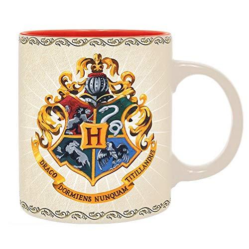 Harry Potter - Taza de cerámica, diseño de escudo de Hogwarts School