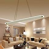 Lámpara de techo,Cuerda De Horca Retráctil Para Ahorrar Energía Led Lámpara De Araña Araña Decorativa Sala Rectangular De Control Remoto La Atenuación Tamaño 80X20Cm.