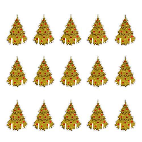 Amosfun 100 Piezas de Copas de Vino de Navidad marcadores de Tarjetas Bebida de Navidad encantos Fiesta Copas de...