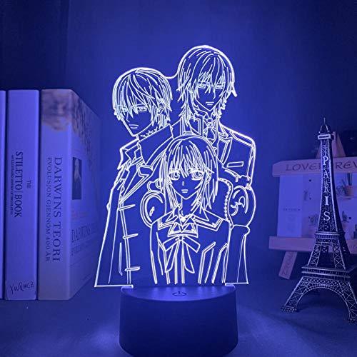 DAJIE Lámpara 3D con diseño de vampiro y caballero, LED, luz nocturna para habitación infantil, decoración de cumpleaños, manga, vampiro Knight