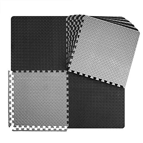 innhom Gym Flooring Gym Mats Exercise Mat for Floor Workout Mat Foam Floor Tiles for Home Gym...