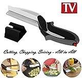 Clever Cutter 2-in-1 Multifunktions-Schere und Messer, Schneidebrett, vielseitiges ergonomisches Design, für Küche und Gemüse