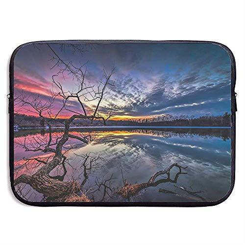 Laptop Hülle Fall Lake Water Tree Neopren Abdeckung Tasche Kompatibel Ipad Pro,13 Zoll/33X26 cm