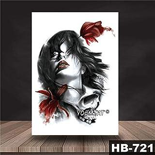 Handaxian 3pcsWaterproof Tattoo Sticker Japanese Geisha Pattern Tattoo Transferencia de Agua Cool Body Art